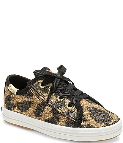 Keds for kate spade new york Girls' Kickstart Jr Leopard Print Sneaker