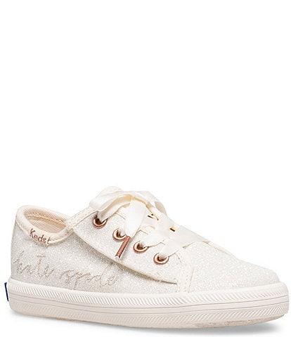 Keds for kate spade new york Girls' Kickstart Jr Glitter Sneakers (Infant)