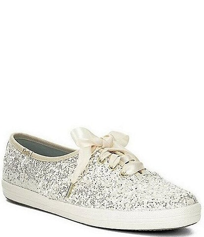 Keds x kate spade new york Glitter Dipped Satin Lace Sneakers