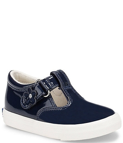 Keds Girls' Daphne Patent Leather T-Strap Shoes (Infant)