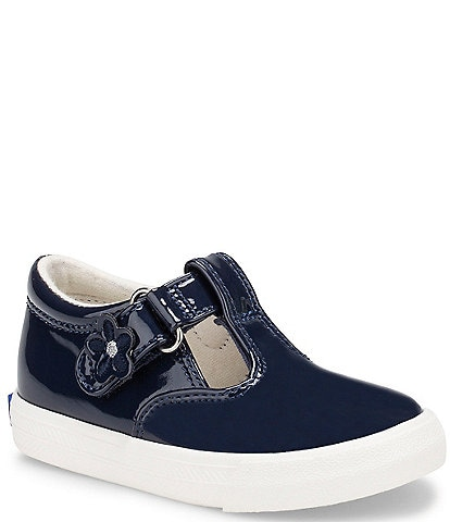 Keds Girls' Daphne Patent T-Strap Shoes (Toddler)