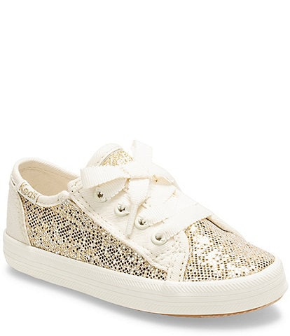 Keds Girls' Kickstart Jr Glitter Lace Up Sneaker