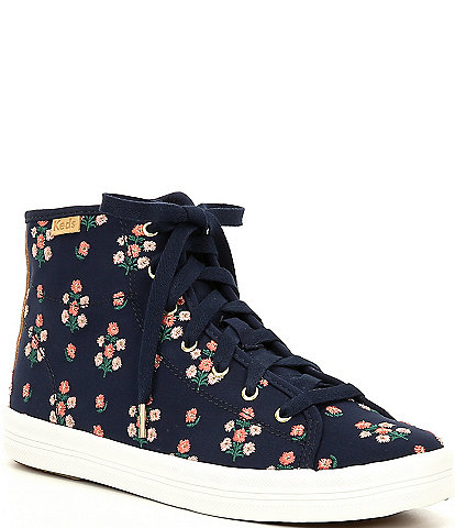 Keds Rifle Paper Co. Kickstart Hi Top Posy Embroidered Sneakers