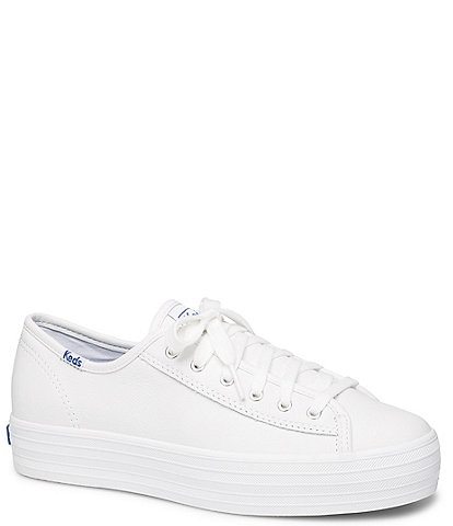Keds Triple Kick Core Leather Platform Lace-Up Sneakers