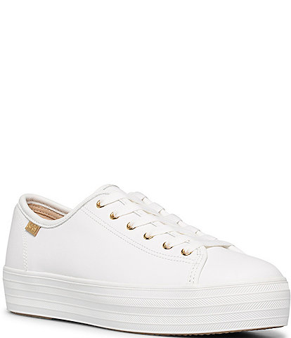 Keds Triple Kick Luxe Platform Leather Sneakers