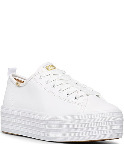 Keds Triple Up Leather Platform Sneakers