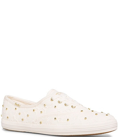 Keds x kate spade new york Champion Bridal Lace Crystal Studs Sneakers
