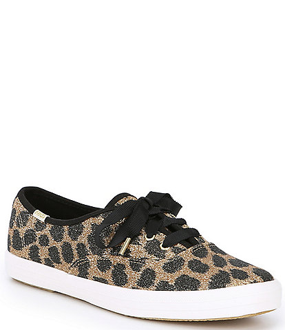 Keds x kate spade new york Champion Glitter Leopard Print Sneakers