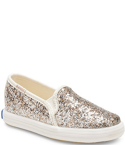 Keds x kate spade new york Girls' Double Decker Glitter Sneakers (Toddler)