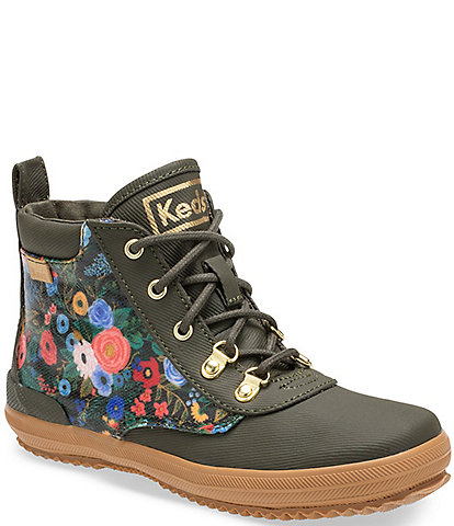 Keds x Rifle Paper Co. Girls' Scout Floral Booties (Youth)