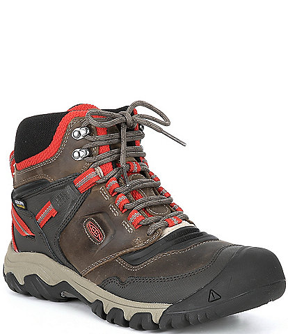 Keen Men's Ridge Flex Waterproof Lace-Up Mid Boots