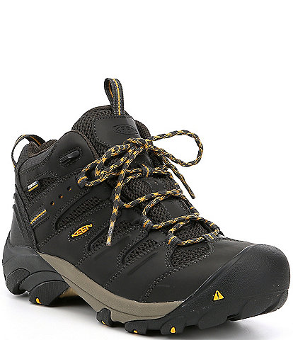 KEEN Men's Utility Lansing Mid Waterproof Steel Toe Work Boots