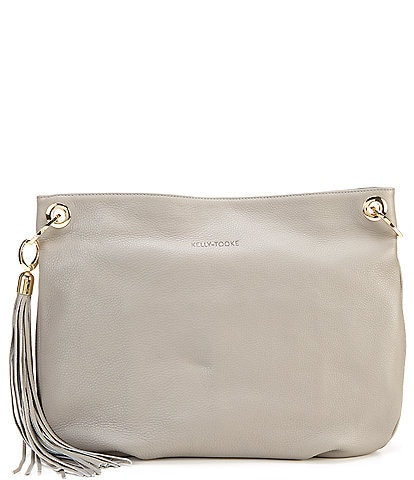 Kelly-Tooke Harley Tassel Hobo Leather Snap Shoulder Bag