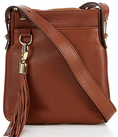 Kelly-Tooke Lizzy Zip Top Leather Crossbody Bag