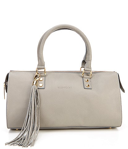 Kelly-Tooke Soho Leather Barrel Tassel Satchel Bag