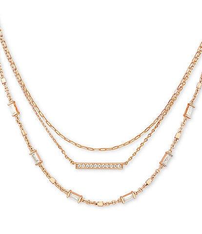 Kendra Scott Addison Triple Strand Necklace