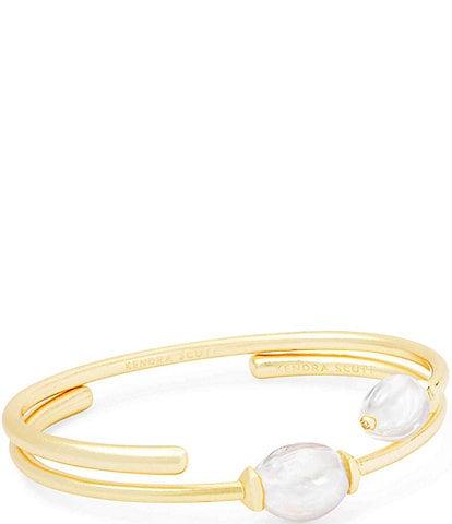 Kendra Scott Amiya Cuff Bracelet Set In Pearl