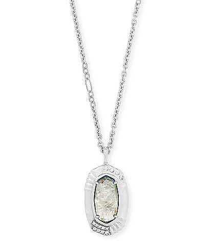 Kendra Scott Anna Silver Long Pendant Necklace