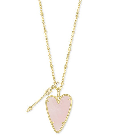 Kendra Scott Ansley Long Heart Pendant Necklace