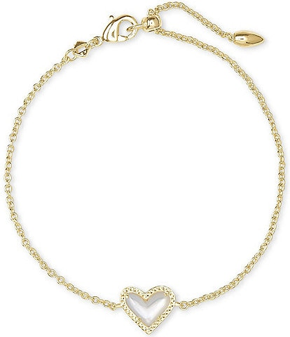 Kendra Scott Ari Heart Gold Chain Bracelet