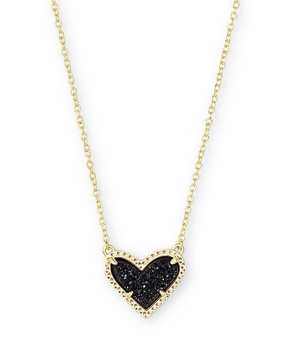 Kendra Scott Ari Heart Gold Short Pendant Necklace