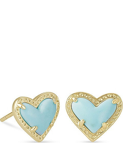 Kendra Scott Ari Heart Gold Stud Earrings
