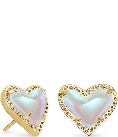 Kendra Scott Ari Heart Gold Stud Earrings