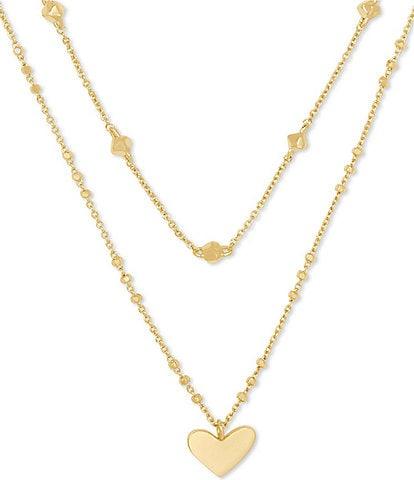 Kendra Scott Ari Heart Multi Strand Necklace