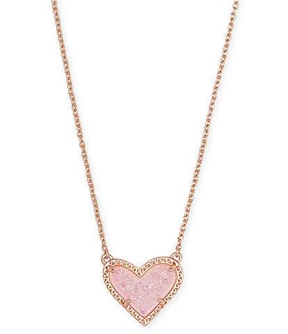 Kendra Scott Ari Heart Rose Gold Short Pendant Necklace