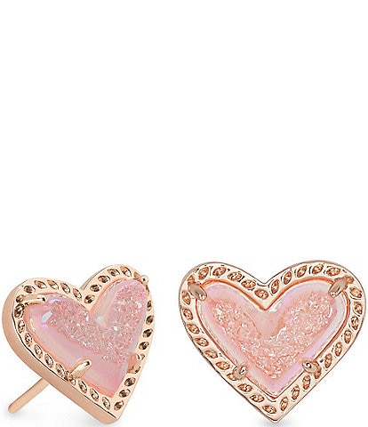 Kendra Scott Ari Heart Rose Gold Stud Earrings