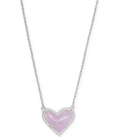 Kendra Scott Ari Heart Silver Short Pendant Necklace