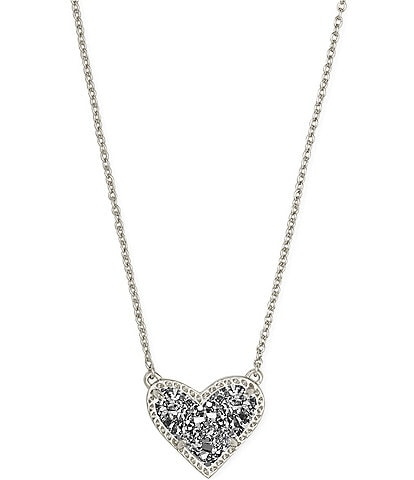 Kendra Scott Ari Heart Silver Short Pendant Necklace