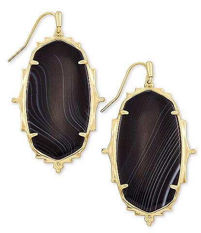 Kendra Scott Baroque Ella Gold Drop Statement Earrings