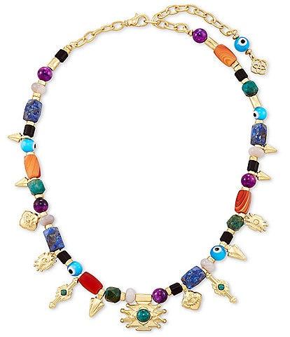 Kendra Scott Beaded Shiva Gold Charm Necklace