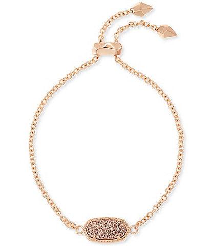 Kendra Scott Elaina Rose Gold Adjustable Chain Bracelet