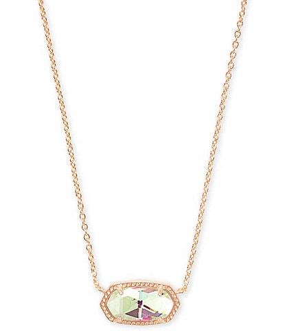 Kendra Scott Elisa Rose Gold Pendant Necklace