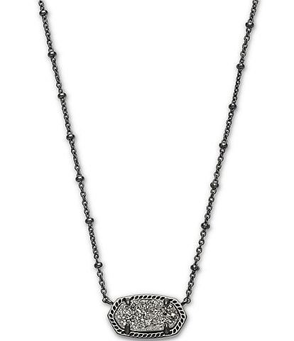 Kendra Scott Elisa Satellite Gunmetal Pendant Necklace