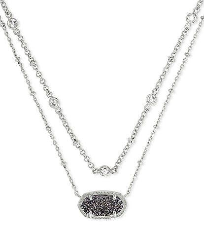 Kendra Scott Elisa Silver Multi Strand Necklace