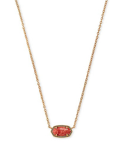Kendra Scott Elisa Vintage Gold Pendant Necklace