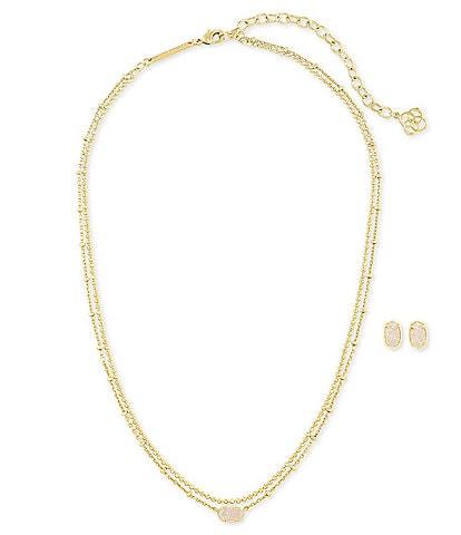 Kendra Scott Emilie Necklace & Earrings Gift Set