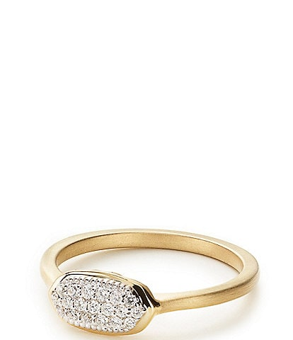 Kendra Scott Isa Pave 14k Gold Diamond Ring