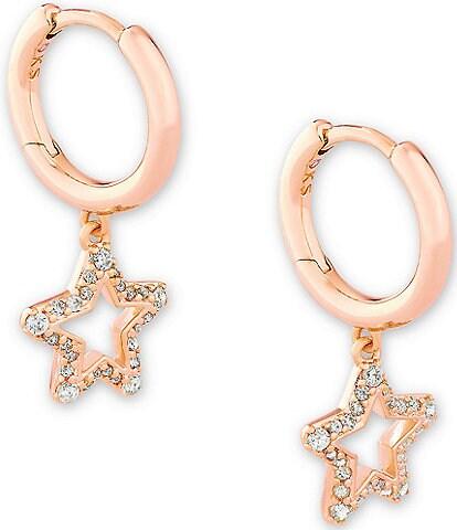 Kendra Scott Jae Star Crystal Huggie Hoop Earrings