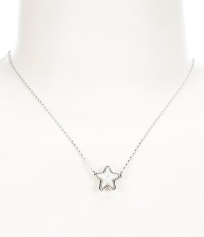 Kendra Scott Jae Star Silver Pendant Necklace