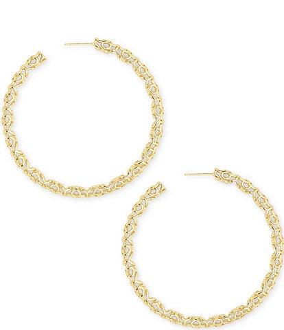 Kendra Scott Maggie Hoop Statement Earrings
