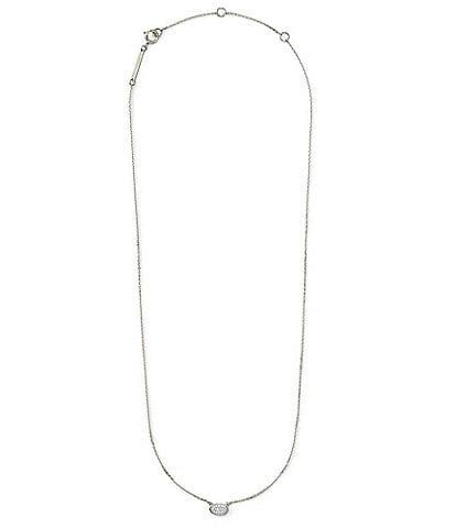 Kendra Scott Marisa Pendant Necklace In White Diamond And 14k Gold