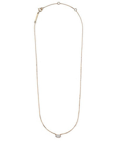Kendra Scott Marisa Pendant Necklace In White Diamond And 14k Gold