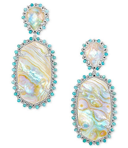 Kendra Scott Parsons Bright Silver Statement Earrings