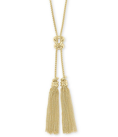Kendra Scott Presleigh Love Knot Tassel Pendant Necklace