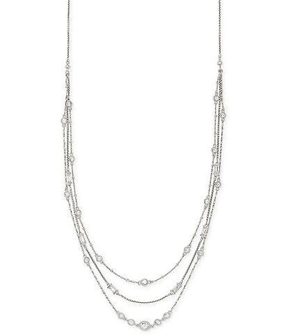 Kendra Scott Rina Multi Strand Necklace In Lustre Glass