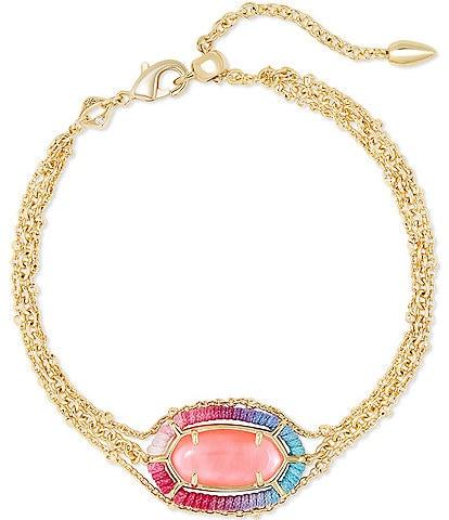 Kendra Scott Threaded Elaina Gold Multi Strand Bracelet